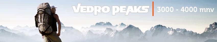 Vedro peaks- od 3000 do 4000 mnv